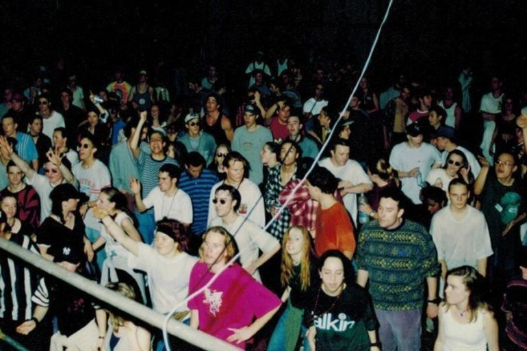 Rave ou free party Australie 90
